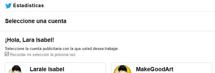 MakeGoodArt selecciona cuentas Twitter