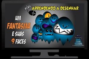 Aprenda a desenhar um fantasma com várias expressões