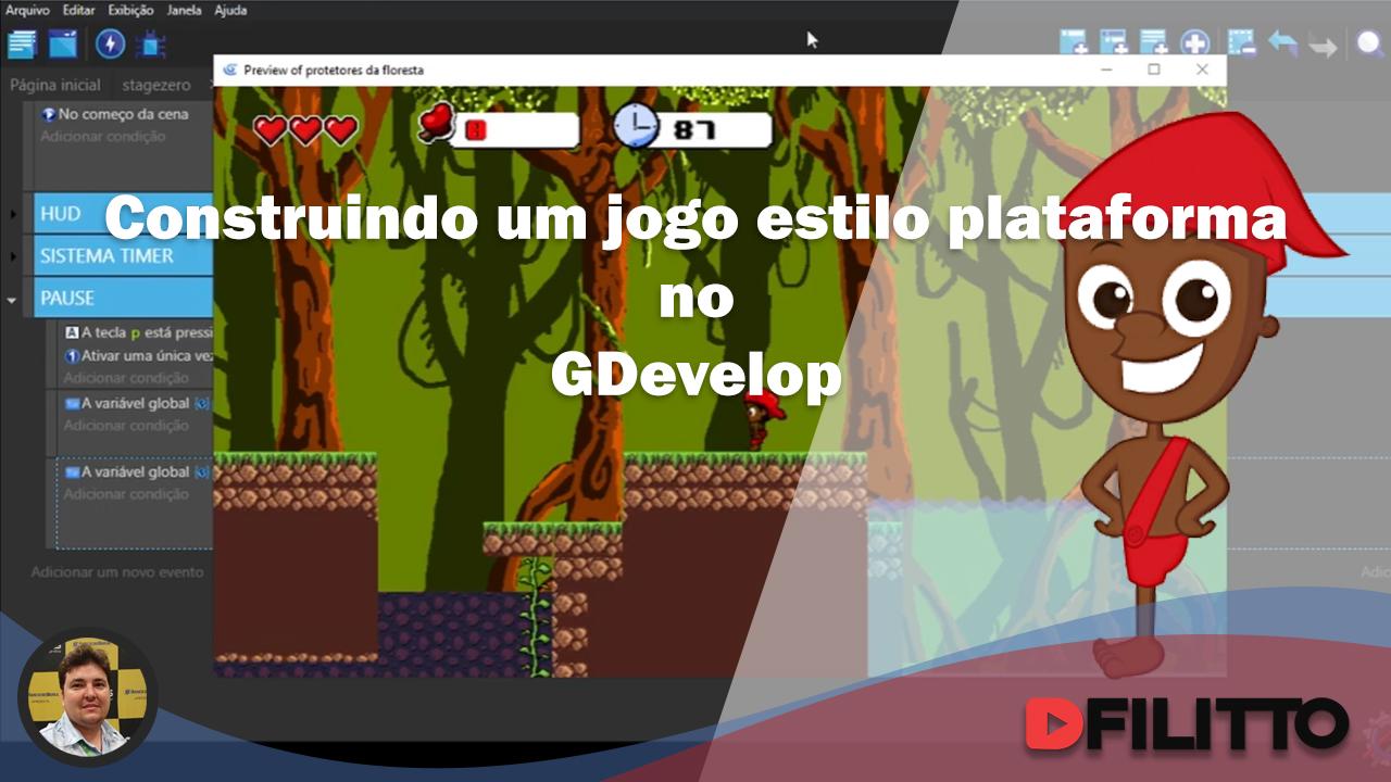 Construindo um jogo estilo plataforma no GDevelop