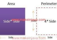 area perimeter square