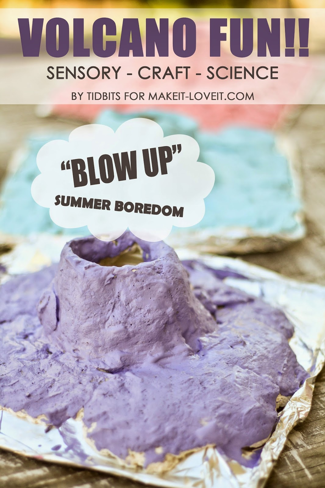 Make Your Own Volcano Sensory Craft And Science