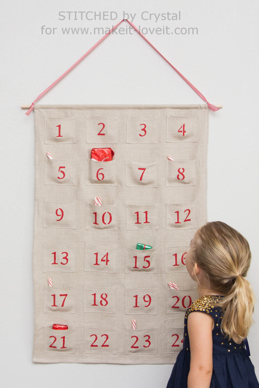 Sew A Simple Advent Calendarfor Christmas Make It And Love It