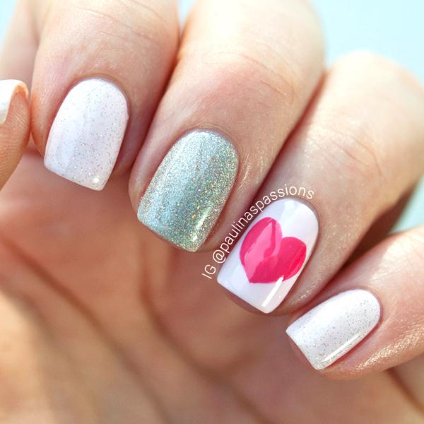 Nail Art Valentines Day Design