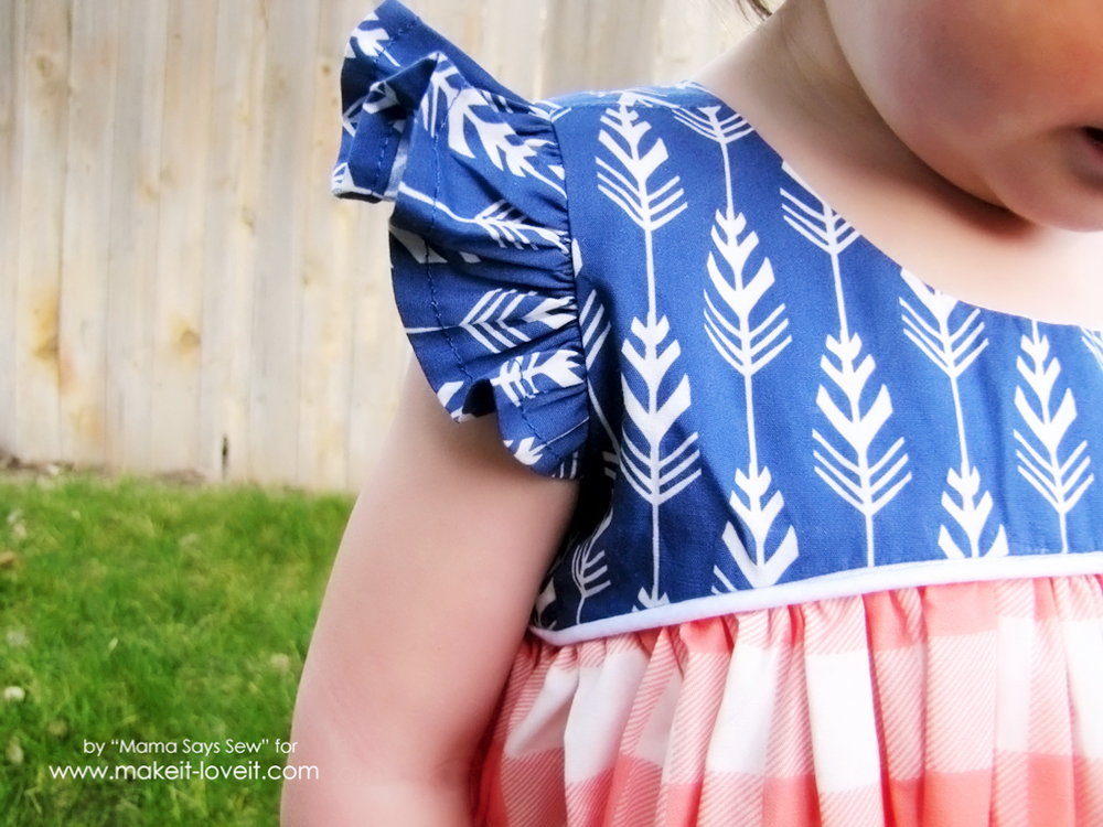 How To Alter a Pattern To Add Flutter Sleeves | via www.makeit-loveit.com