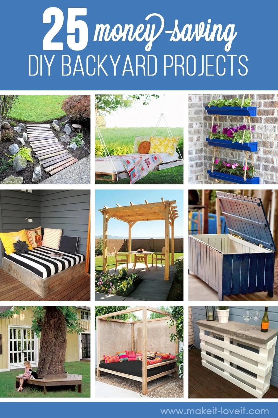 25 Money-Saving DIY Backyard Projects...to transform your space!! | www.makeit-loveit.com