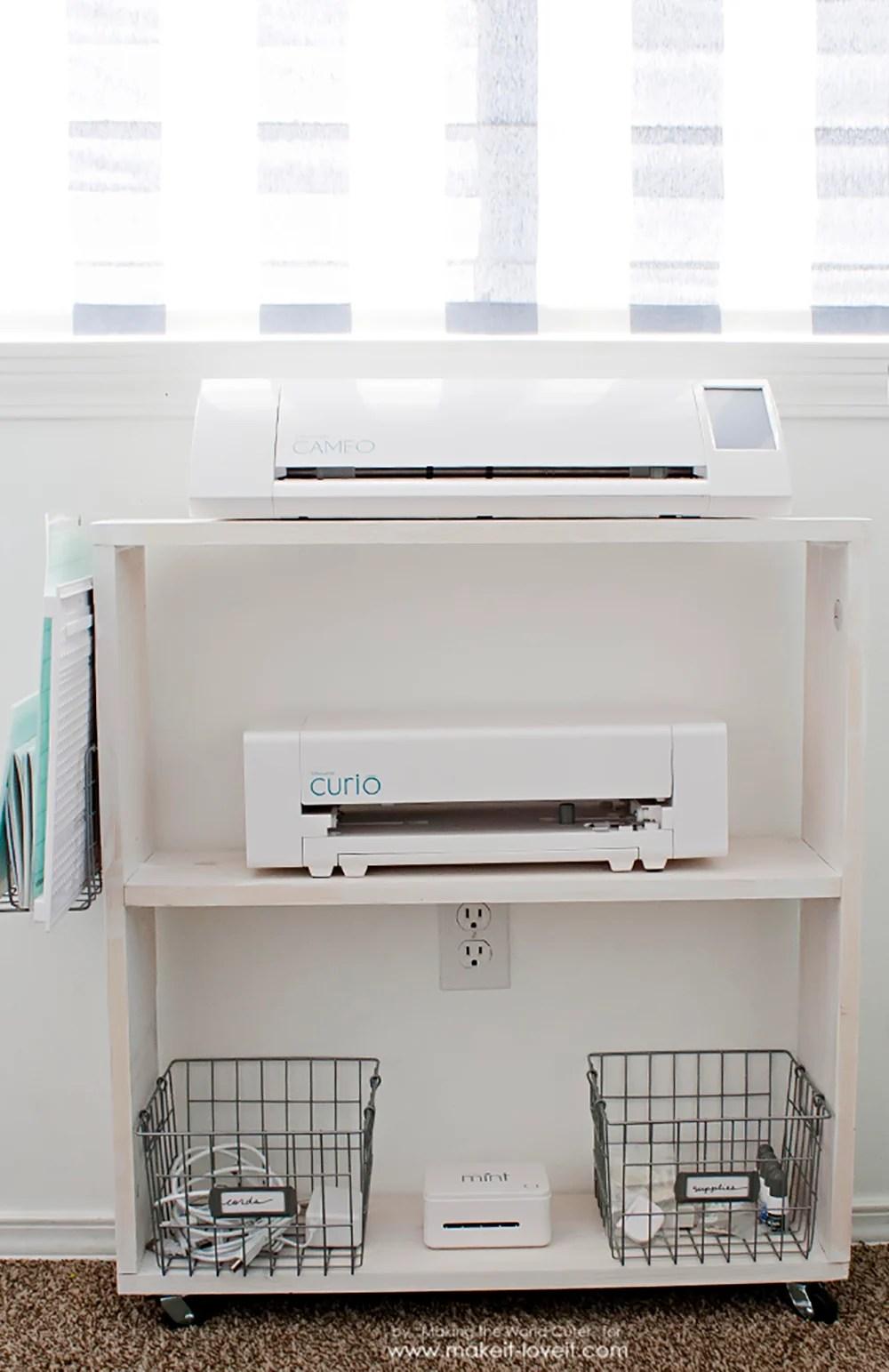 Easy DIY Craft Cart...Perfect Silhouette Storage! | via www.makeit-loveit.com