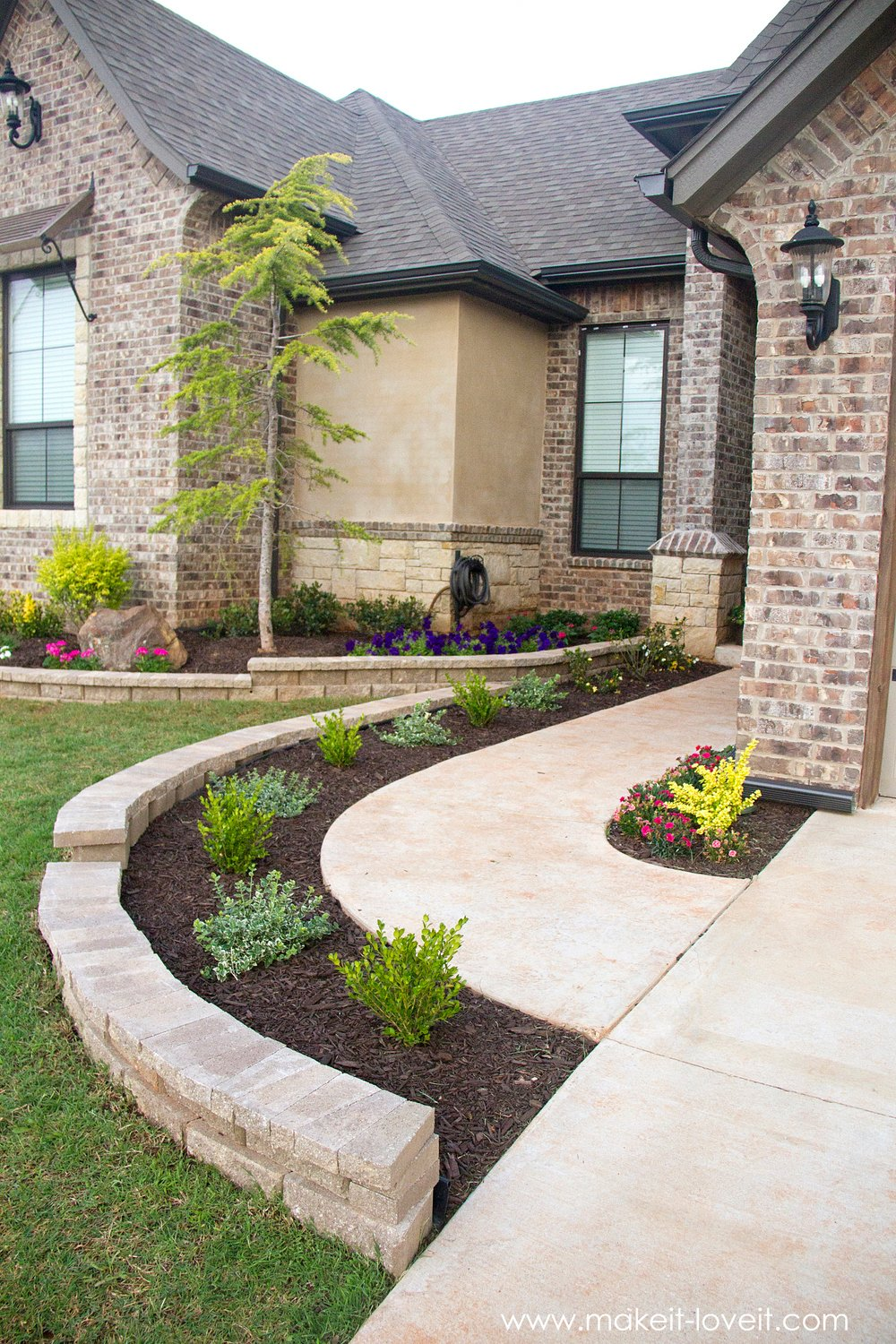 How To Landscape & Hardscape a Front Yard (...from our ... on Backyard Hardscape Design id=61256
