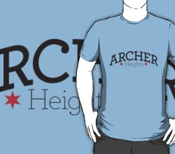 """""""Archer Heights Tee,"""" from Chicago Tee, via Make It Like a Man! Free Wi-Fi in Archer Heights"""