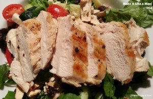 """Grilled Chicken Salad,"" from Make it Like a Man! Salad and Ranch Dressing"