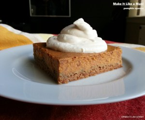 Pumpkin Squares, from Make It Like a Man!