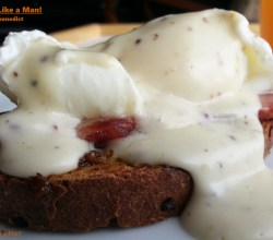 """Swiss Eggs Benedict,"" from Make It Like a Man!"