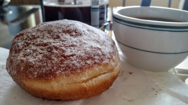 """Dinkel's Bakery Vanilla Cream Bismark, Whole,"" from Make It Like a Man!"