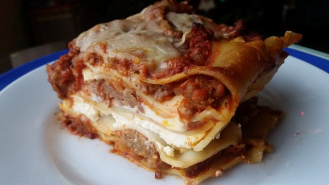 """Italian-American Lasagna,"" from Make It Like a Man!"