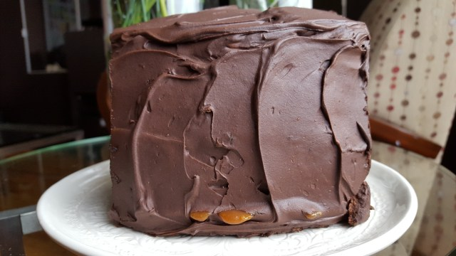 """""""Salted Caramel Six Layer Chocolate Cake,"""" from Make It Like a Man!"""