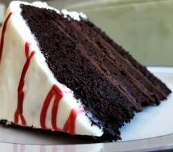 """Chocolate Baileys Surprise Cake,"" from Make It Like a Man!"