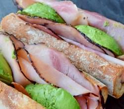 """Ham & Avocado Sandwiches,"" from Make It Like a Man!"
