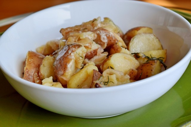 """Polish Boiled Potatoes with Onion and Dill,"" from Make It Like a Man!`"
