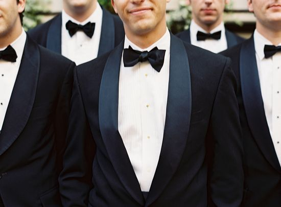 groomsmen with bow ties
