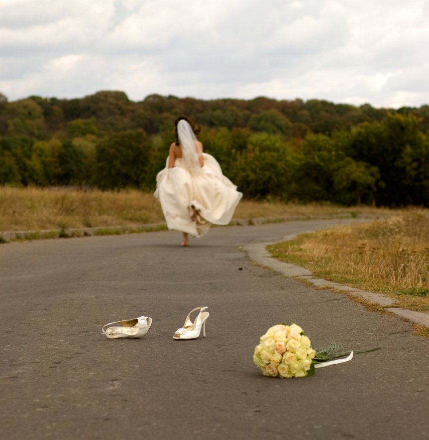 Bride Running late for the aisle