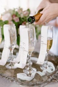 Wedding Planner Pouring Champaign