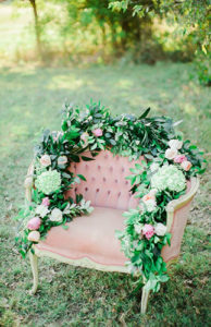 vintage chair with florals event