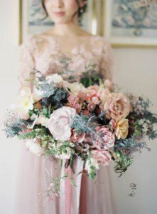 pastel floral bouquet event planner