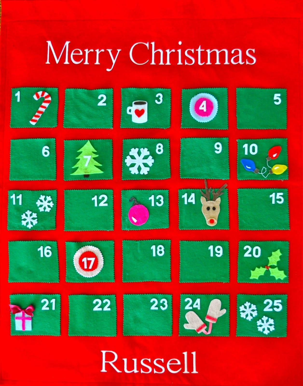 How To Make A Festive Felt Advent Calendar