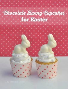 Chocolate Easter Bunny Cupcakes