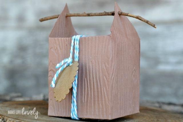 Rustic Wood Paper Box