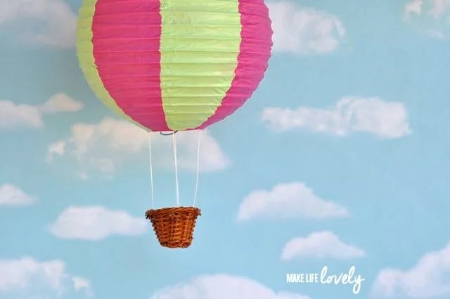 Easy paper lantern hot air balloon craft