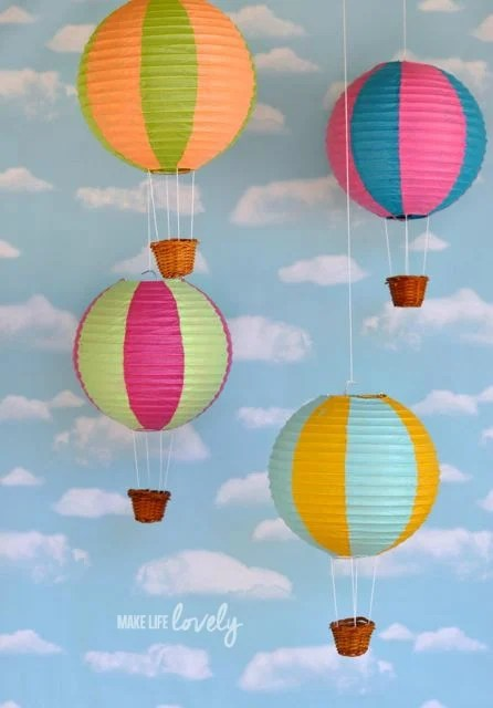 Hot Air Balloons from Paper Lanterns