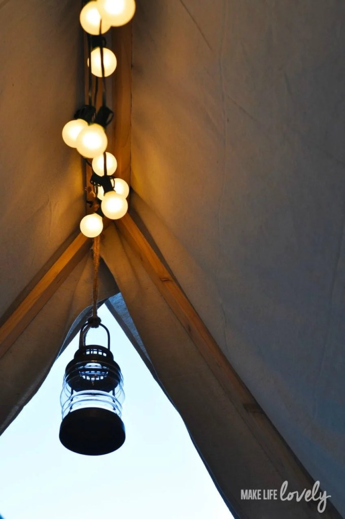 Glamping Lighting Ideas | by Make Life Lovely