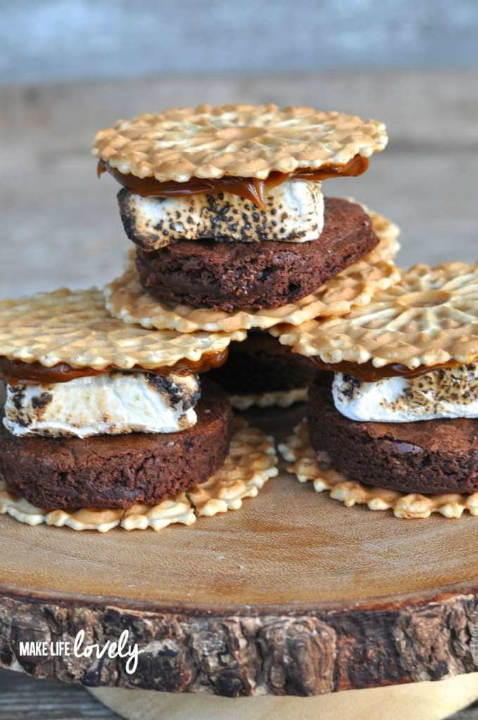 Gourmet S'mores- Chocolate Brownie Dulce de Leche S'mores