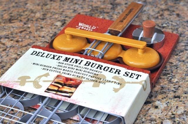 World Market Deluxe Mini Burger Slider Set Glamping  Food