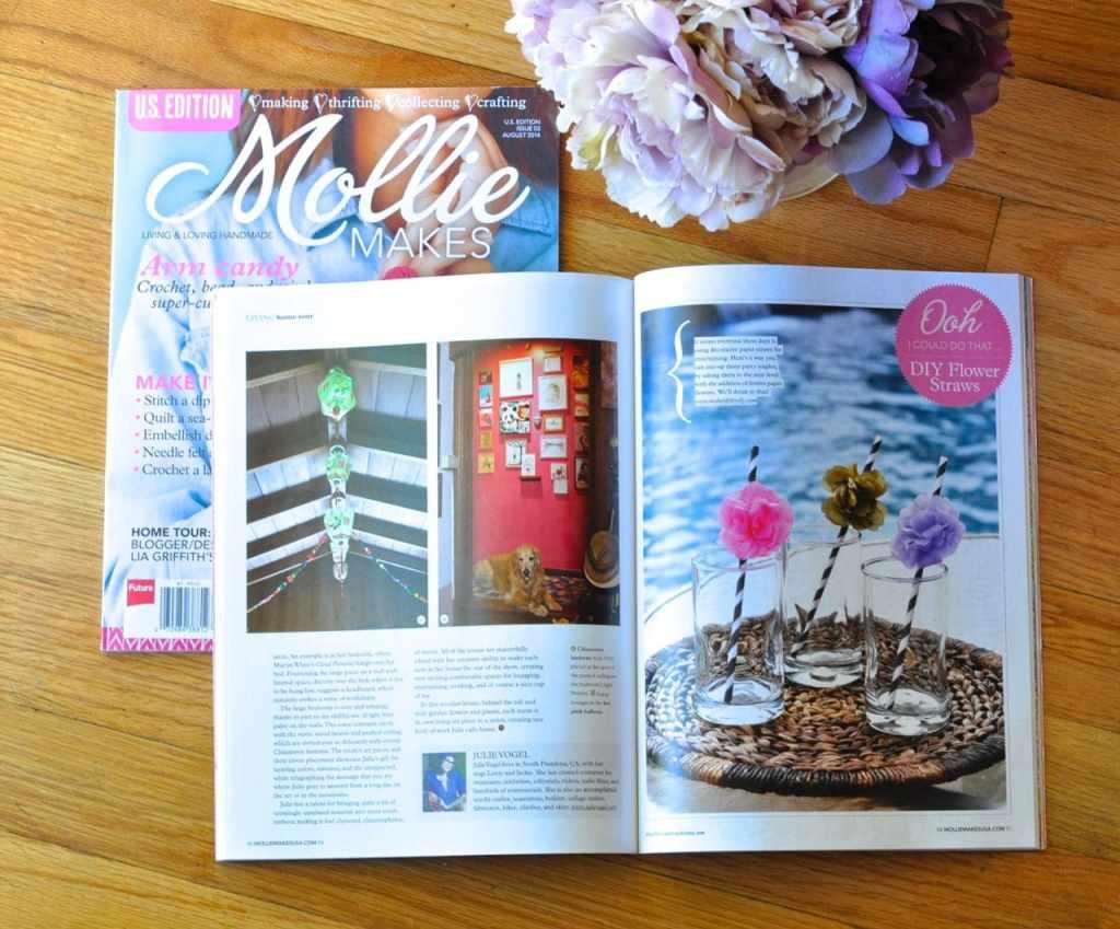 DIY Flower Straws in Mollie Makes Magazine