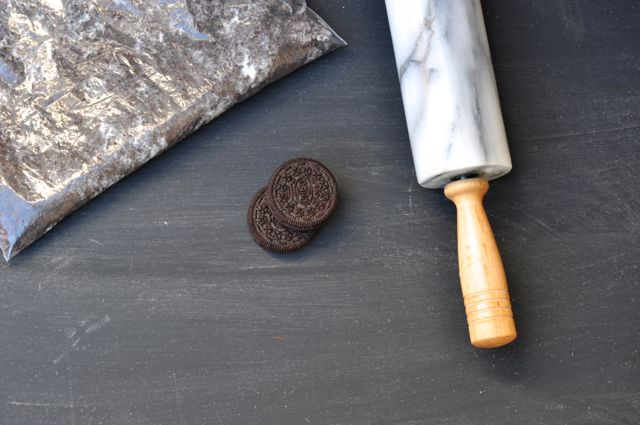 Crush the cookies with a rolling pin
