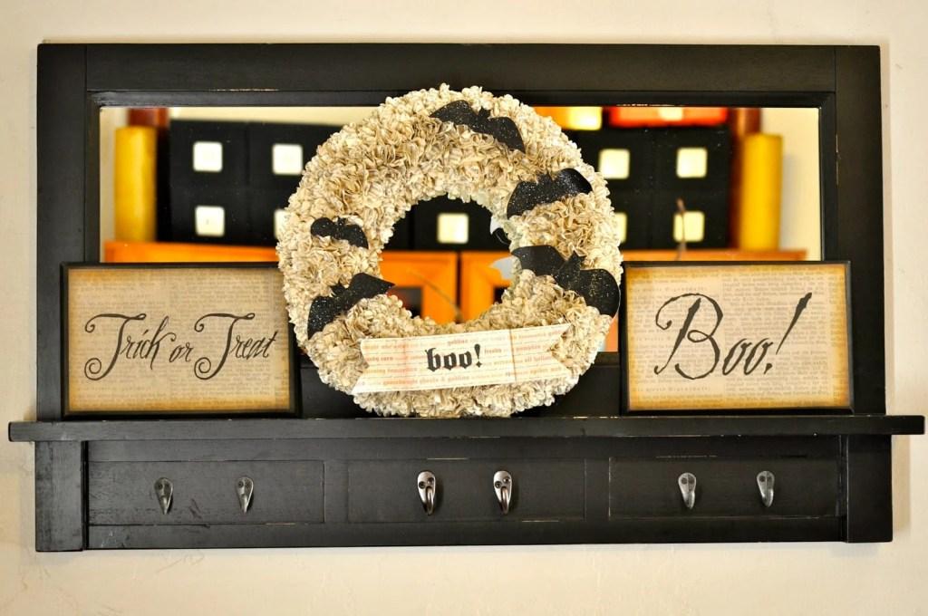 DIY Paper Halloween Wreath