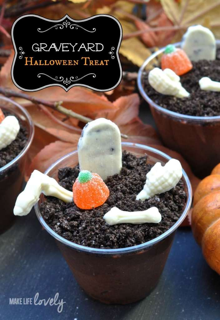 Graveyard Chocolate Pudding Halloween Treat