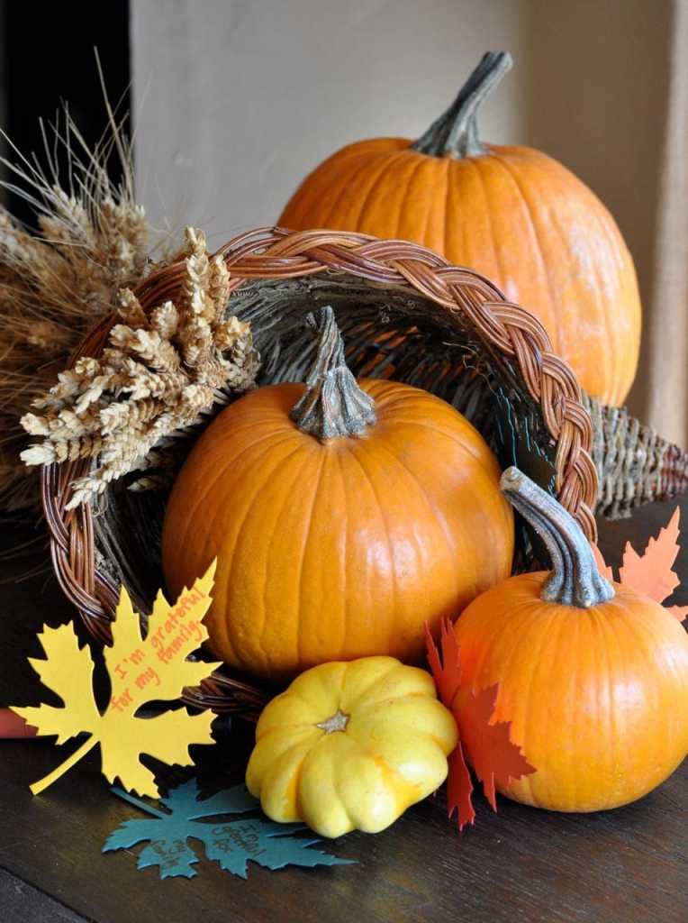 Thanksgiving Cornucopia Centerpiece