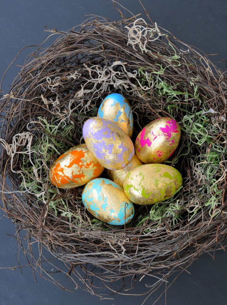 Gold Leaf Easter Eggs Tutorial