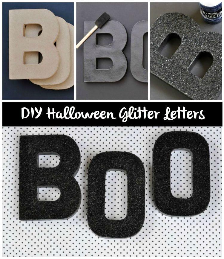 DIY Halloween Glitter Letters