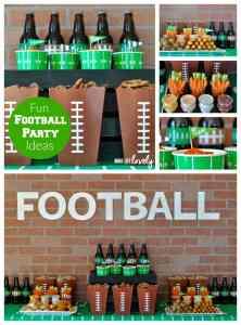 Football Party Ideas + Buffalo Chicken Pizza Bites