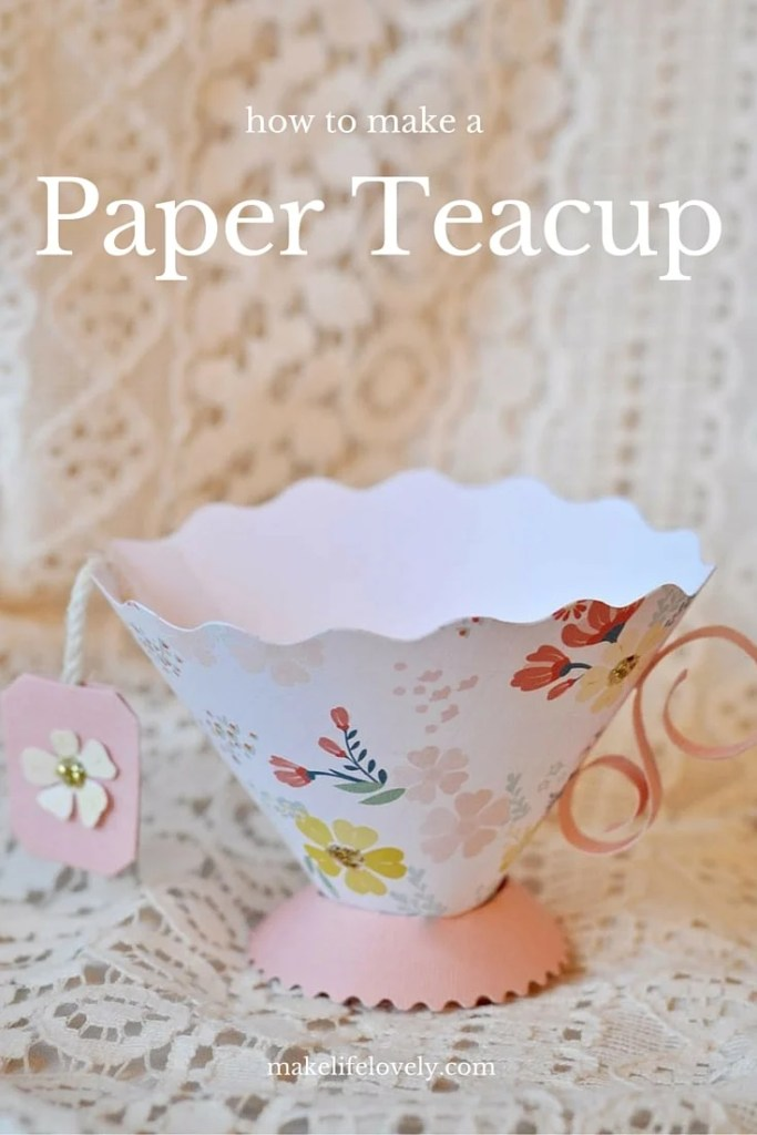 How to make a paper teacup
