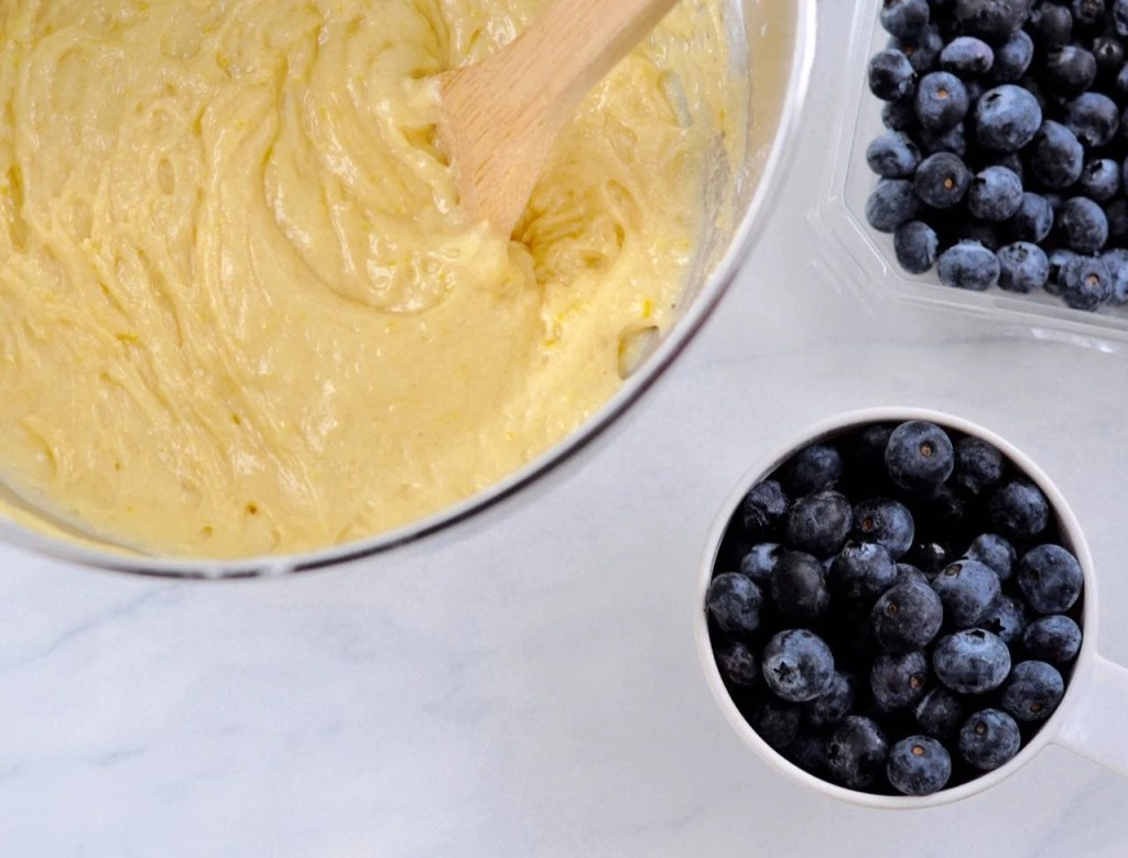 Blueberry lemon coffe cake recipe for a brunch party