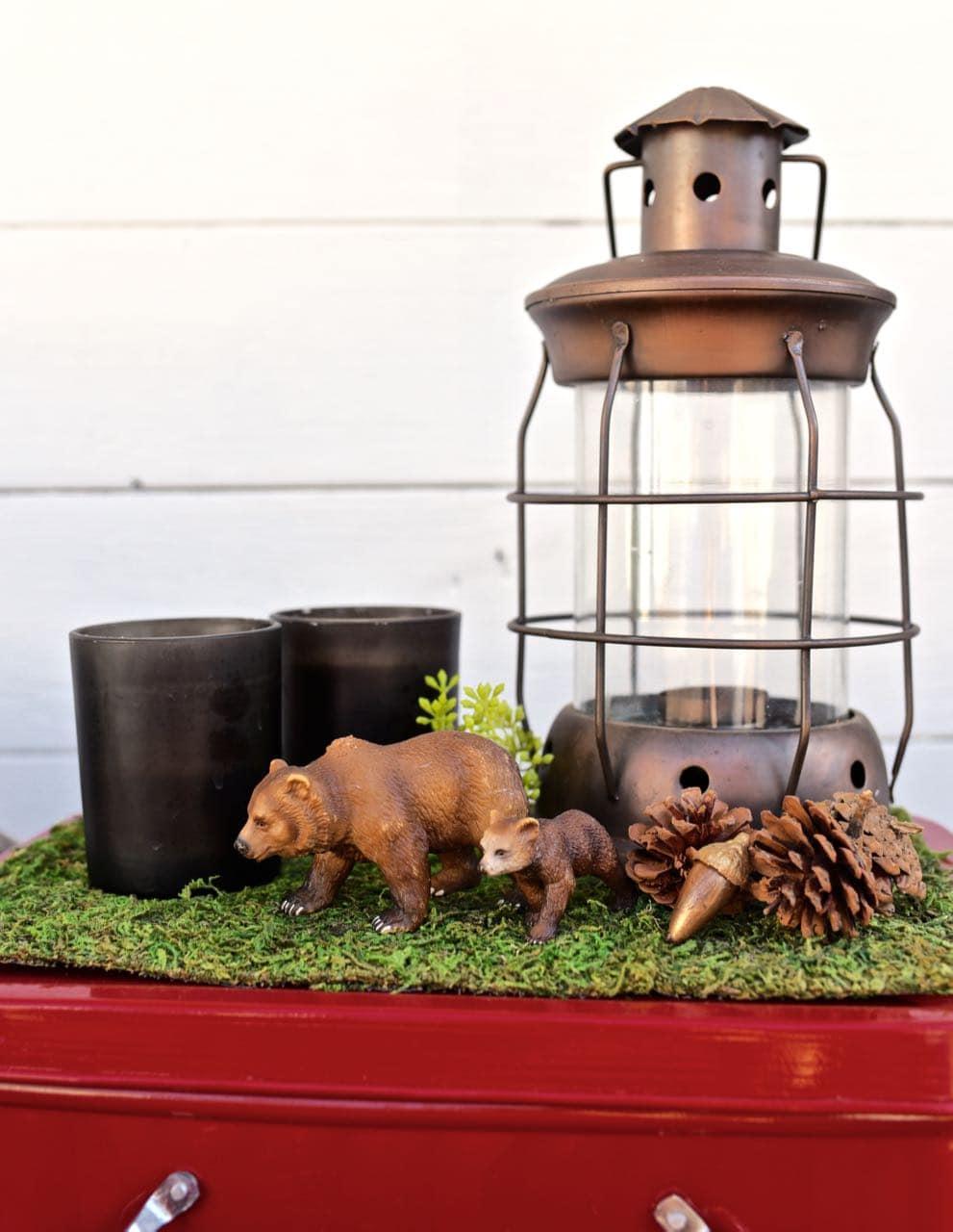 Backyard camping party decorations