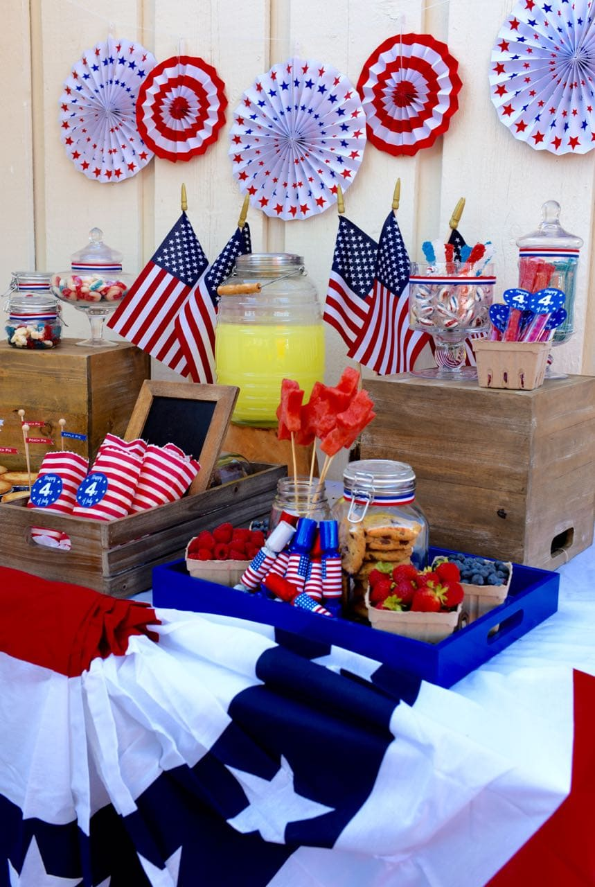 Americana Themed Old Fashioned 4th of July Party