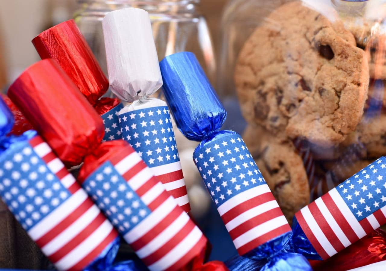 Fourth of July Crackers at Fourth of July Party