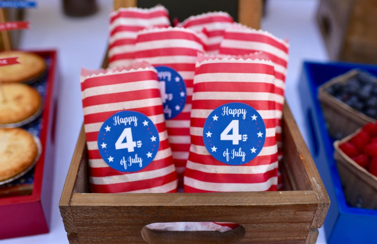 Free Printable Fourth of July Labels