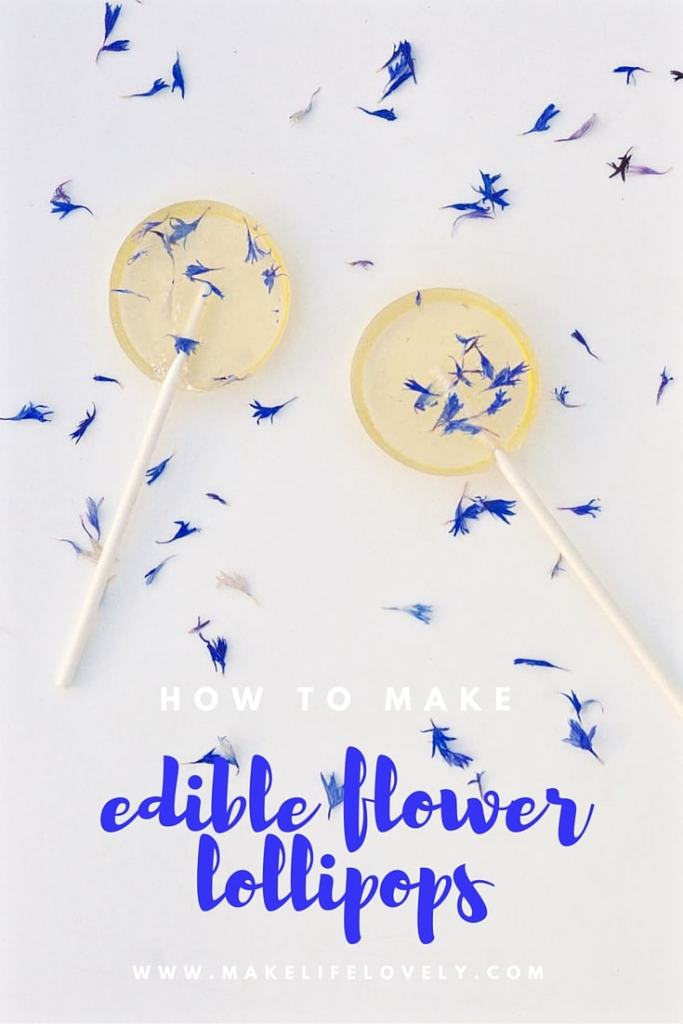 How to make gorgeous edible flower lollipops in just a few minutes!  Perfect for parties, weddings, bridal showers, and more.