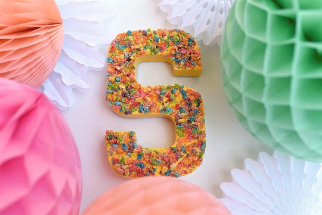 Cardboard letter party decoration. Cute and easy!